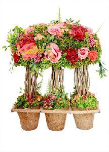 Artificial Decorative Rose Flower Mini Tree