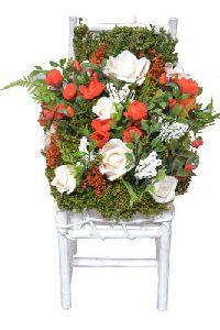 Decorative Artificial Flower Chair Bouquet