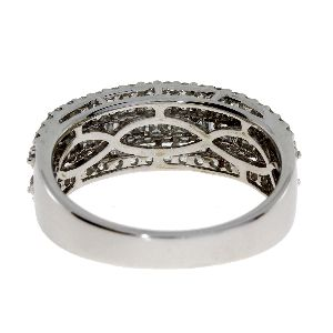 1.20 Ct Diamond & 18KT White Gold Ladies Ring