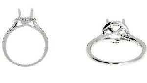 .49 Ct Diamond & 18KT White Gold Ring Set