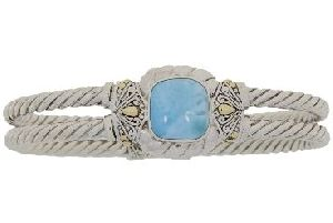 Sterling Silver Larimar Bangle Bracelet