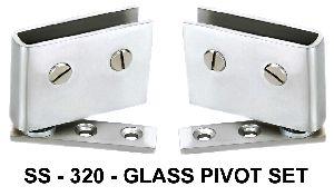 SS-320 Stainless Steel Glass Pivot