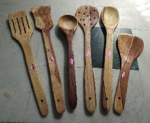 Wooden Cooking Spoon Set