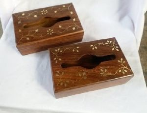 Wooden Tissue Paper Box