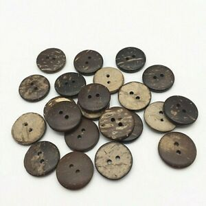 Coconut Shell Round Buttons