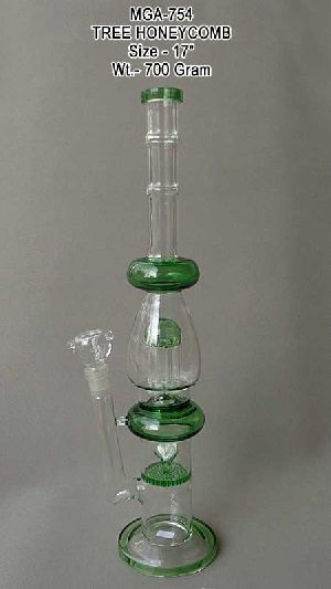 MGA-754 Glass HoneyComb Water Pipe
