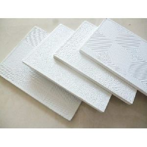 PVC Laminated Gypsum Ceiling Tiles Manufacturer Supplier in