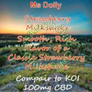 Ms Dolly Strawberry Milkshake (100 mg)
