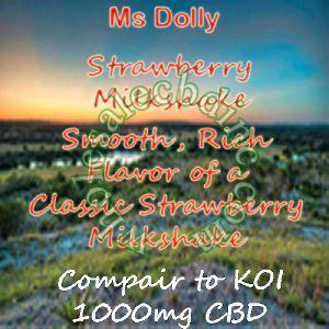 Ms Dolly Strawberry Milkshake (1000 mg)