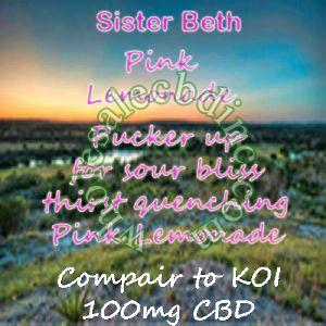 Sister Beth Pink Lemonade (100 mg)