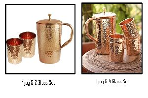 Copper Glass and Jug Set