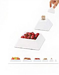 Pyramid Shaped 6 Layer Tray