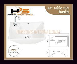 Cross Table Top Wash Basin