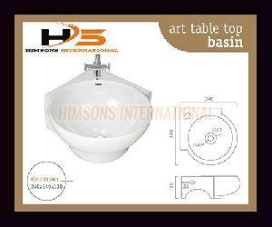 De Corner Table Top Wash Basin