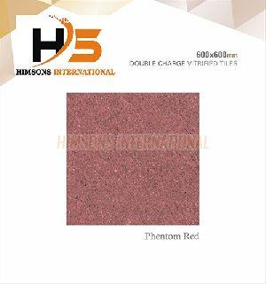 Phentom Red Double Charge Vitrified Tile