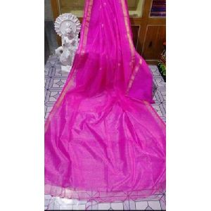 Plain Matka Silk Saree