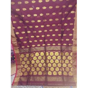 Printed Matka Silk Saree