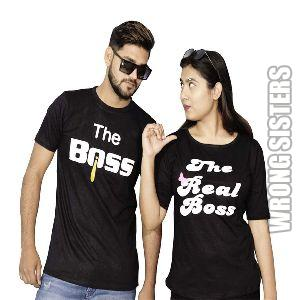Boss Printed Couple T-Shirt