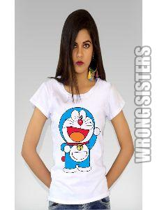 Doraemon Painted T-Shirt