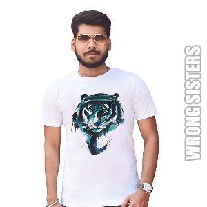 Lion Printed Half Sleeve T-Shirt