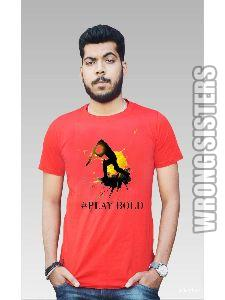 Play Bold Printed Half Sleeve T-Shirt