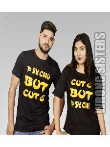 Psycho Printed Couple T-Shirt