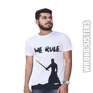 We Rule Printed Half Sleeve T-Shirt