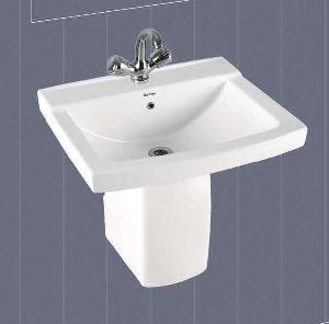 Selvi Half Pedestal Wash Basin