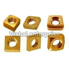 Brass Golden Square Nuts
