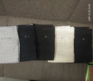 Mens Cotton Checkered Trouser