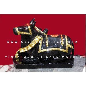 Black Nandi Marble Statue