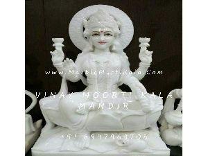 White Marble Laxmi Idol