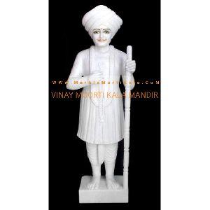 White Jalaram Bapa Marble Statue Manufacturer Supplier In