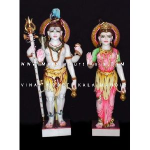 Shiv Parvati Ji Marble Idol