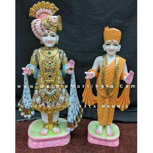 Aksharpurushottom Swaminarayan Bhagwan marble statues