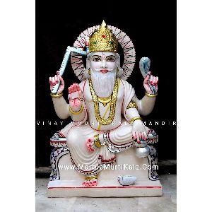 White Marble Vishwakarma Ji