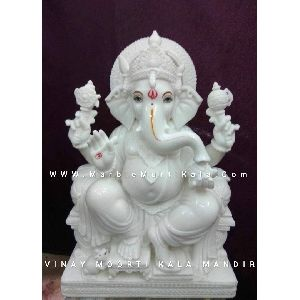 Makrana Marble Ganeshji Statue