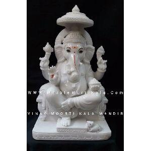 Ganesh Ji Sitting on Sighasan Murti