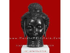 Antique Buddha in Black Stone