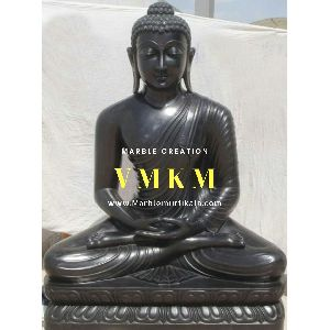 Black Buddha Marble Statue