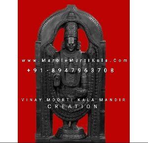 Black Marble Balaji Statue