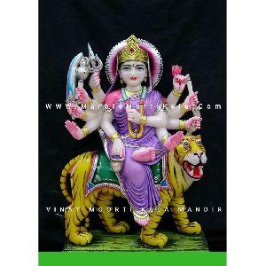 Chandraghanta Mata Marble Statue
