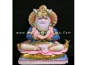 Marble Lord Jhulelal Murti