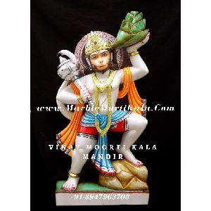 Multicolour Veer Hanuman ji Statue