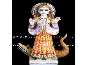 Multicolor Marble Khodiyar Maa Statue