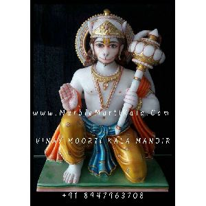 Lord Hanuman Statue in Sitting Position