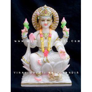 Multicolor Laxmi Marble Statue