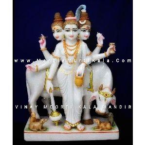 Marble God Tridev Dattatreya Statue