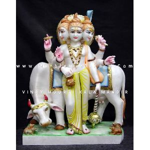 Marble Statue of Lord Dattatreya