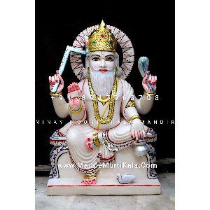 Marble Vishwakarma Bhagwan Murti